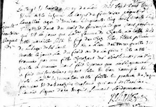 Francoise Paquet 1731 burial record