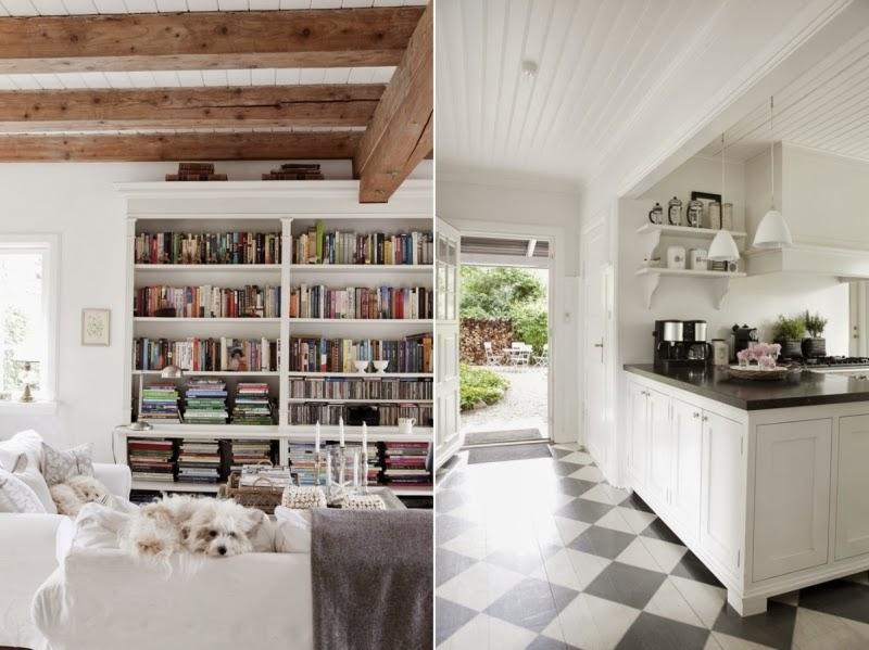 Tradycyjny, skandynawski dom z rustykalną nutą, wystrój wnętrz, wnętrza, urządzanie domu, dekoracje wnętrz, aranżacja wnętrz, inspiracje wnętrz,interior design , dom i wnętrze, aranżacja mieszkania, modne wnętrza, styl skandynawski, drewniane belki, białe wnętrza,