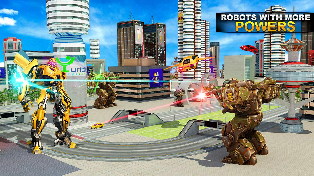 Real Robot Car Transformer War MOD APK