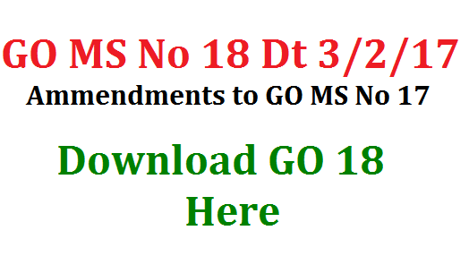GO MS No 18 Ammendments to GO 17 Regarding Pandit PET Upgradation in Telangana FINANCE (HRM-II) DEPARTMENT G.O.Ms.No.    Dated:03.02.2017. GOVERNMENT OF TELANGANA ABSTRACT SCHOOL EDUCATION DEPARTMENT – Upgradation of 2487 Language Pandits as School Assistants (Languages) and 1047 Physical Education Teacher (PET) posts as School Assistants (Physical Education) in the State – Amendment - Orders - Issued FINANCE (HRM-II) DEPARTMENT G.O.Ms.No.    Dated:03.02.2017.