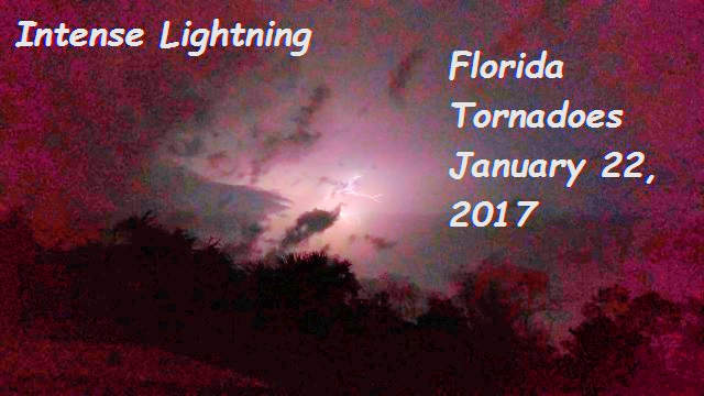 Amazing Lightning - Florida Tornadoes of January 22, 2017