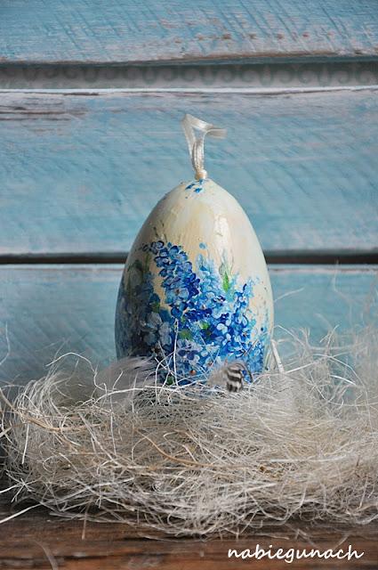 Moje pierwsze malowane jajo gęsie