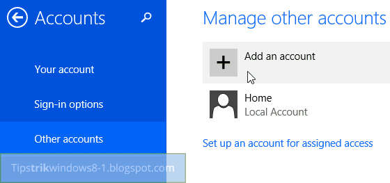 buat akun lokal di windows 8.1