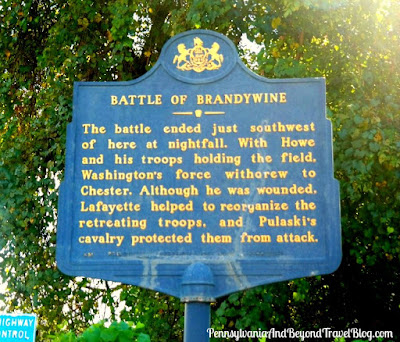 The Battle of Brandywine Historical Marker in Chester County, Pennsylvania