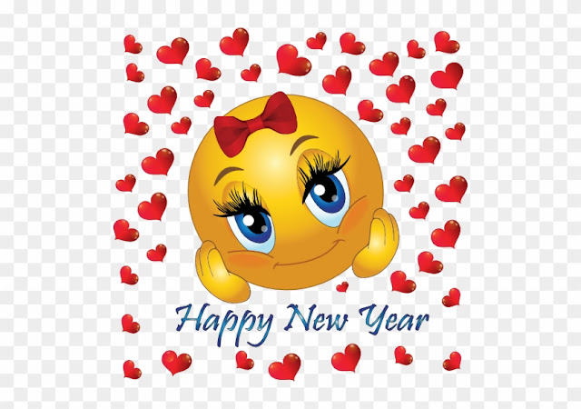 Happy New Year's Day 2019 Emoji And Emoticons