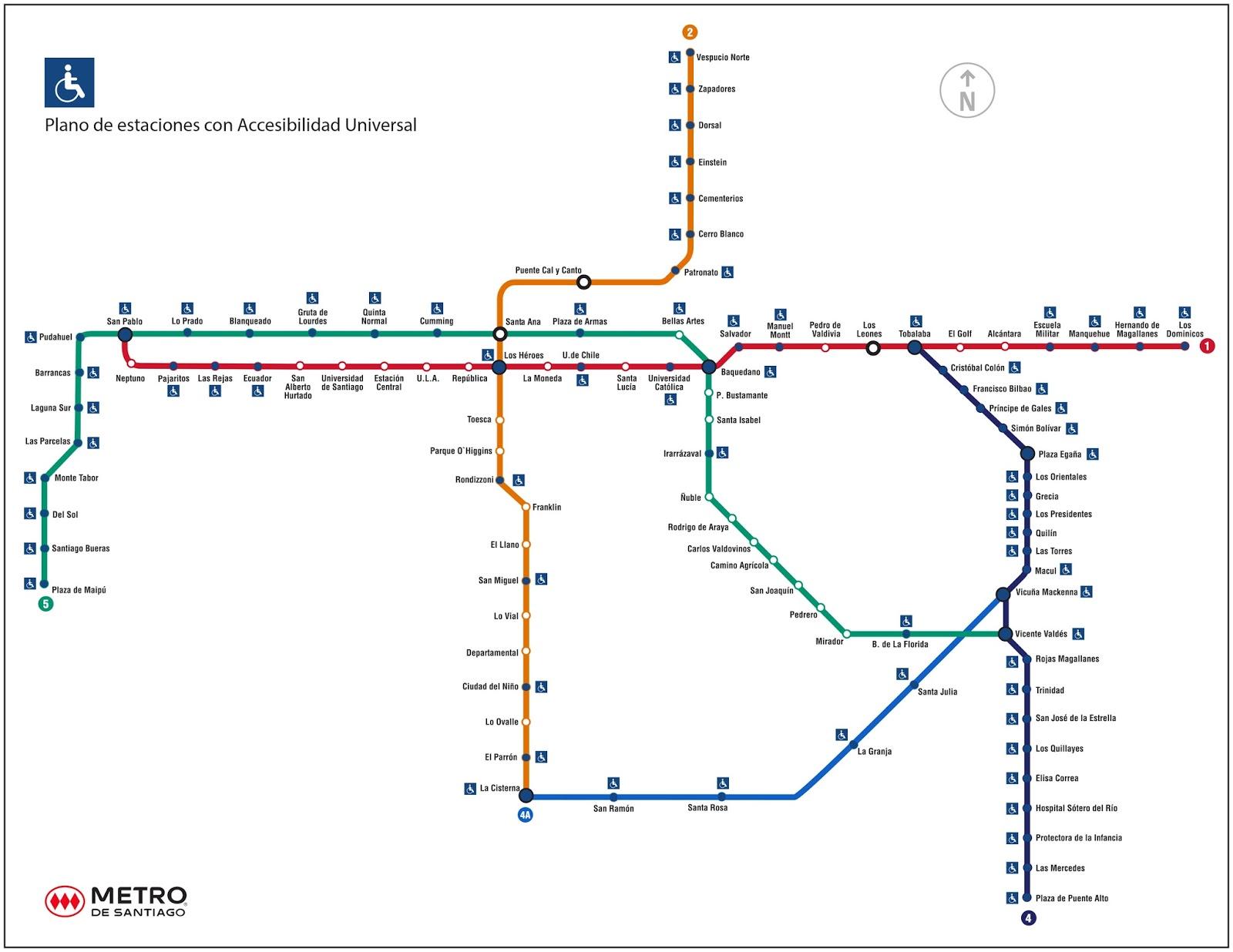 Metrô Do Rio (não Oficial) Metrô De Santiago (chile