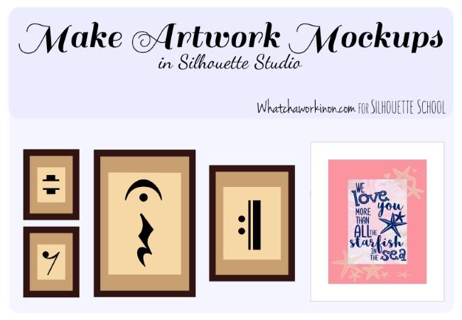Silhouette Studio, Silhouette Cameo, Mock-Ups, mock ups