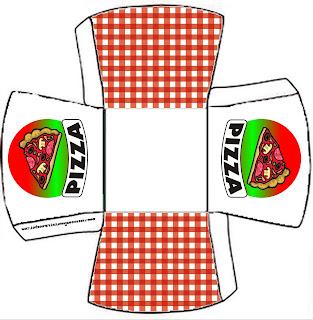 pizza kit completo com molduras para convites rótulos para