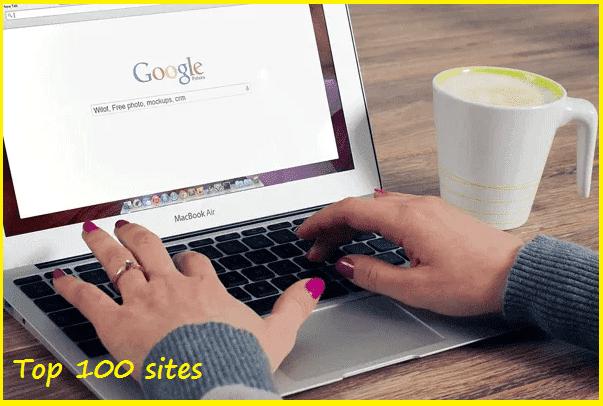 قائمة المواقع الأكثر زيارة Top 100 sites