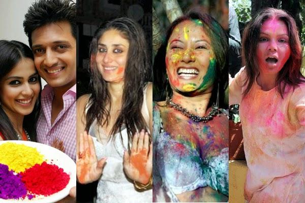 Hot Celebs Holi pics