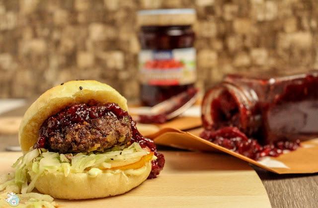 Zwiebel-Cranberry-Chutney für Burger