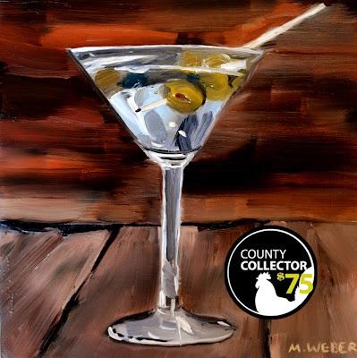 Five O'clock Martini original oil painting by Merrill Weber