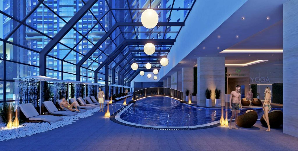 Bể bơi bốn mùa Chung cư HD Mon City