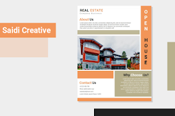 Open House Real Estate Business Flyer Template Free Download on Word File