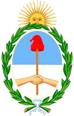 Dibujo del escudo nacional de Argentina a colores