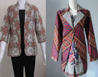 Model blazer batik remaja masa kini