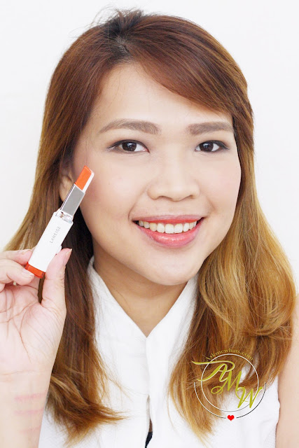 a photo of Laneige Two Tone Lip Bars in Dear Pink, Juicy Pop, Maxi Red and Orange Blurring