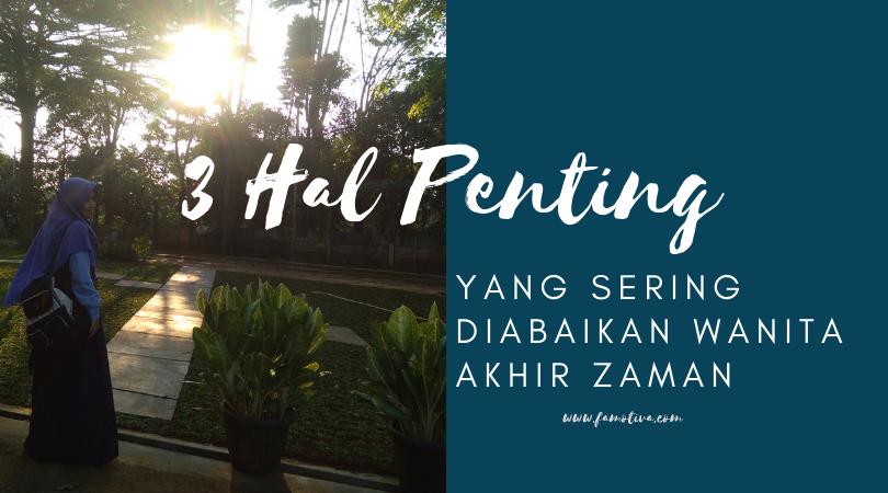 3 Hal Penting