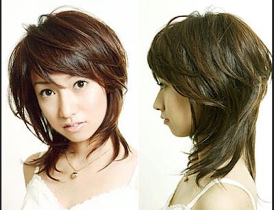 gaya rambut shaggy sebahu untuk wanita