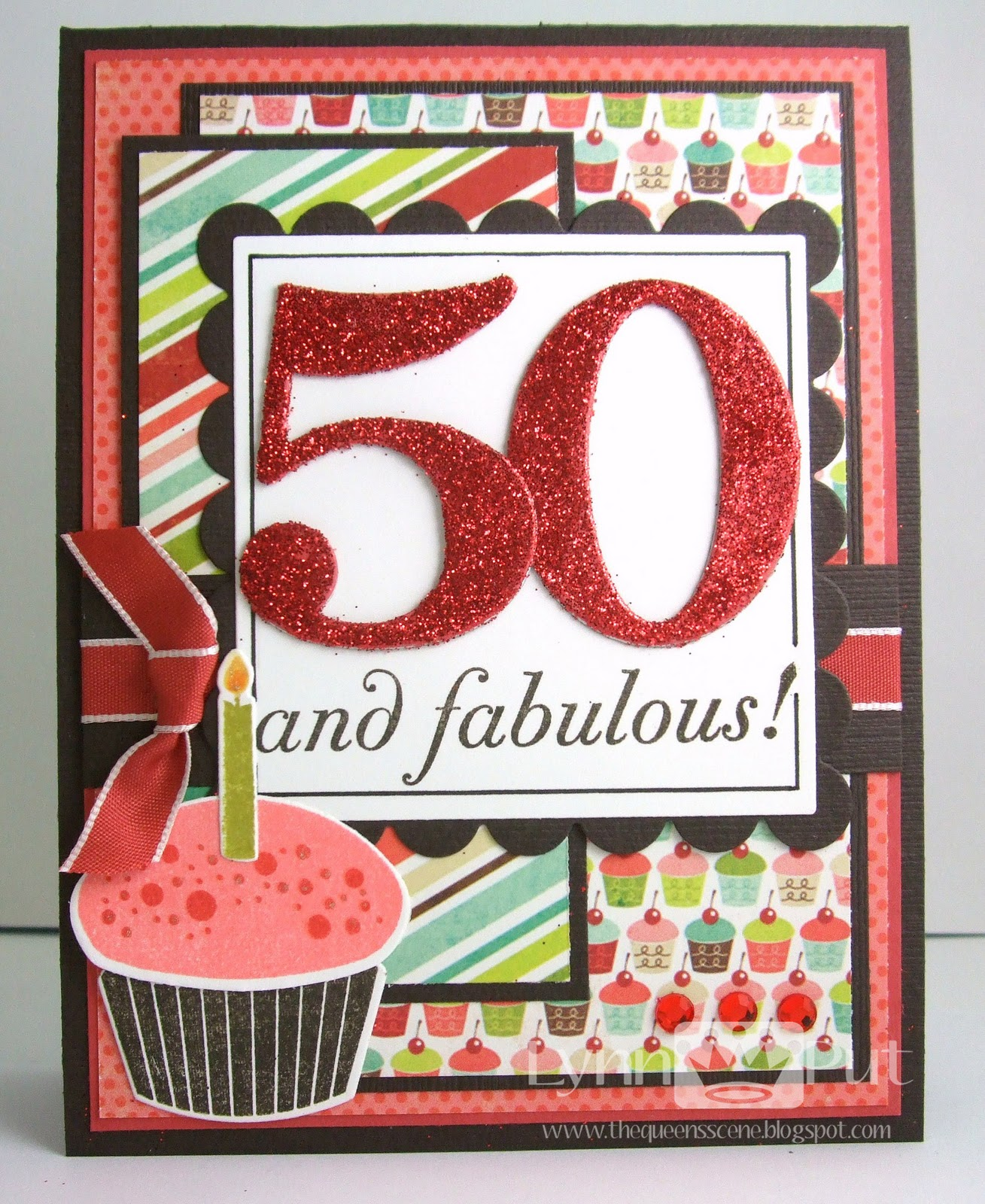 The Queens Scene SSSC147 50 and FABULOUS – Birthday Card 50