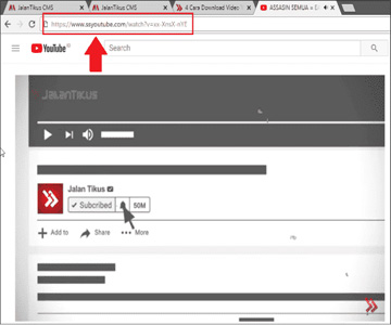 cara mendownload video dari youtube tanpa software