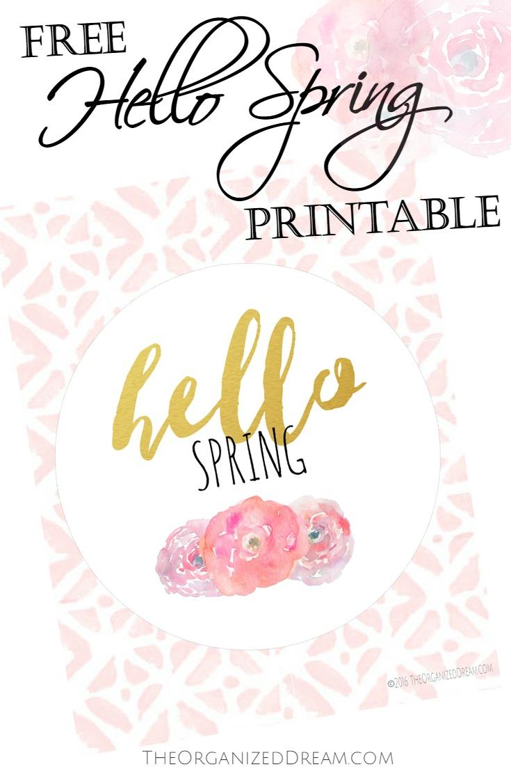 Free Hello Spring Printable