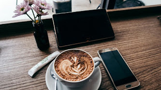 Samsung Devices and a Coffee