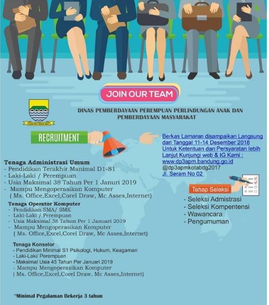 Rekrutmen Dinas Pemberdayaan Perempuan Perlidungan Anak dan Pemberdayaan Masyarakat Kota Bandung