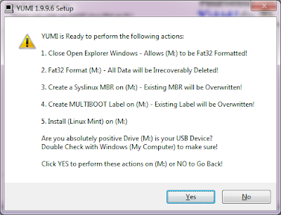 Tutorial Cara Membuat Flashdisk Bootable Windows 7 Dengan YUMI