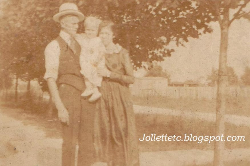 Clifton and Mae Holland with John  http://jollettetc.blogspot.com