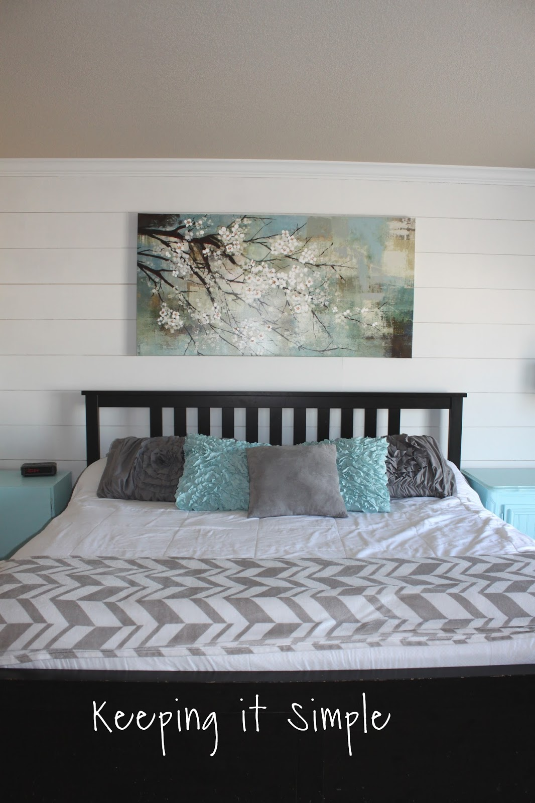 Keeping It Simple How To Build A Shiplap In A Master Bedroom For 100