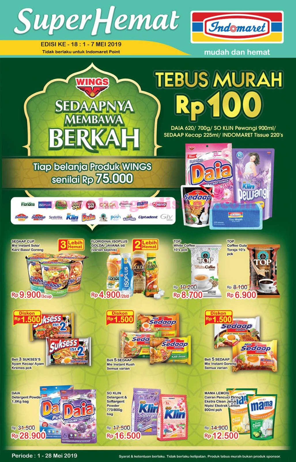 Katalog Promo Indomaret 1 Mei 7 Mei 2019 News And Talking