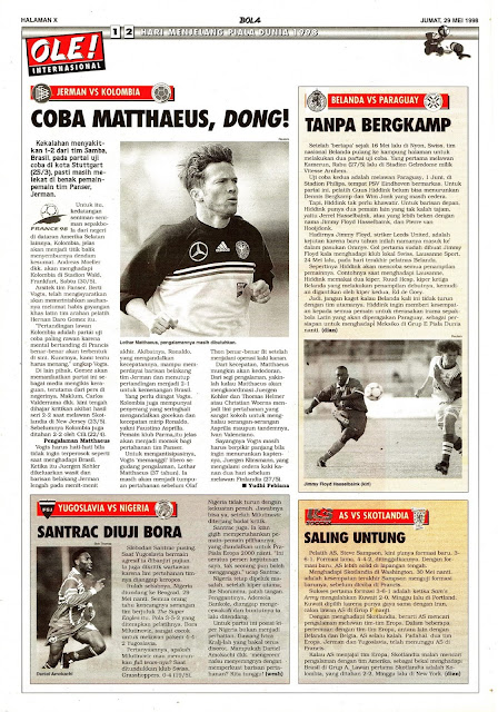 GERMANY VS COLOMBIA 1998 LOTHAR MATTHAEUS