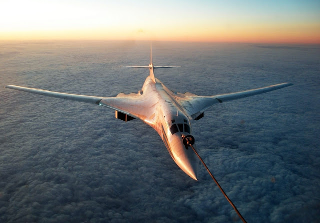 Tupolev Tu-160 Black Jack While Air Refueling