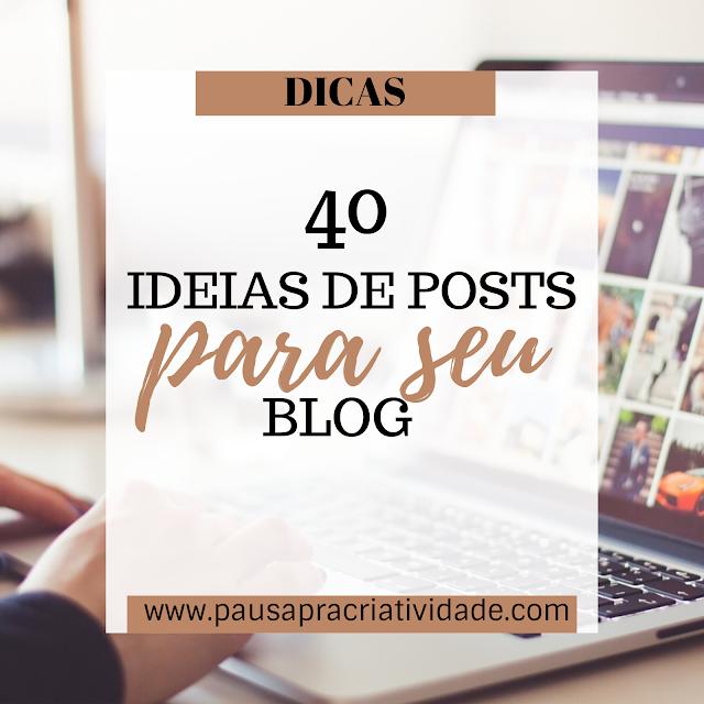 Ideias de post para seu blog