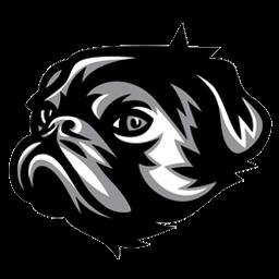 logo anjing hitam putih