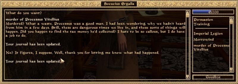 Text Play: Morrowind Part 2: Taxman