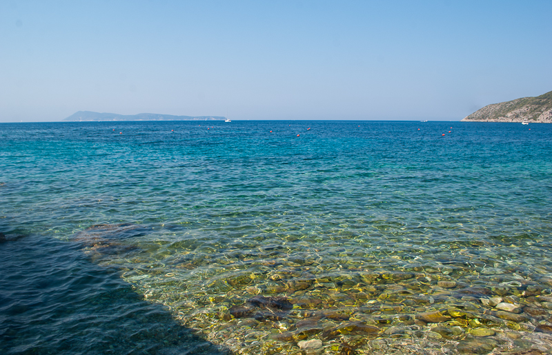 clear blueish green beach water in Vis island croatia