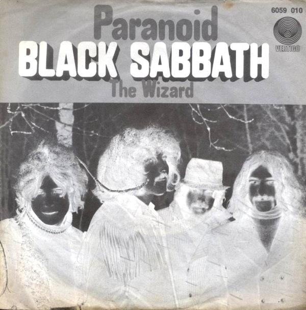 Portada del single Paranoid de Black Sabbath