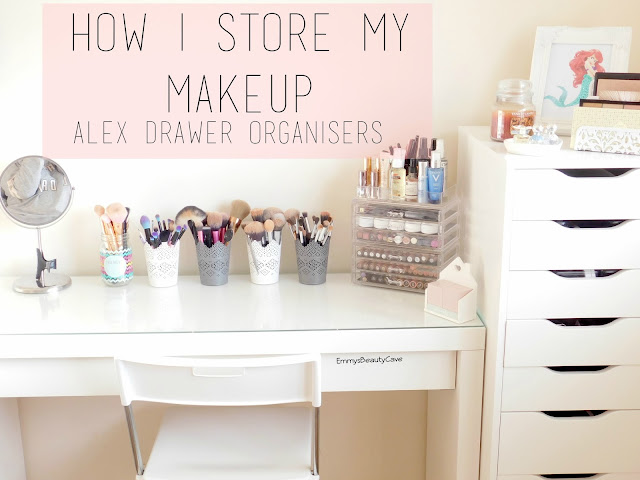 Ikea Alex Drawer Storage Ideas, Makeup Storage Ideas, Ikea Malm Dressing Table