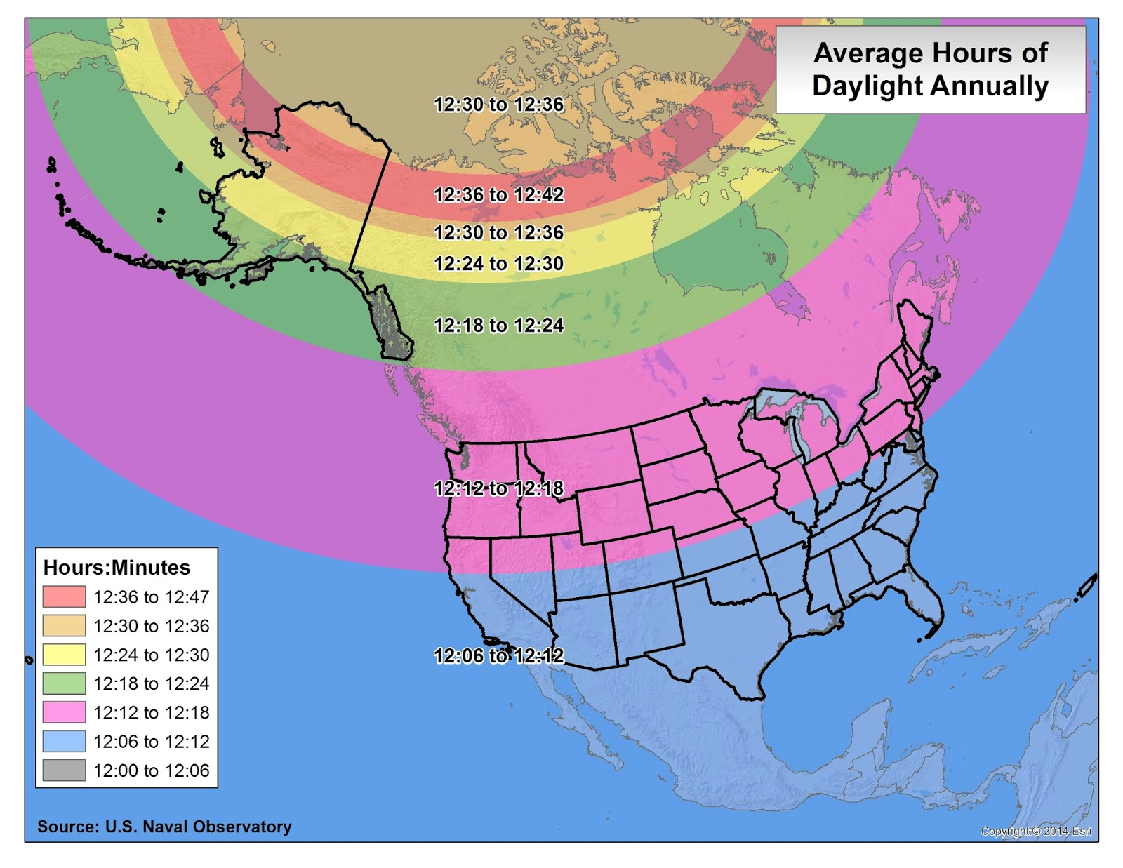 Brian Bs Climate Blog DaylightTwilightAstronomical Maps - Us map annual hours sunshine