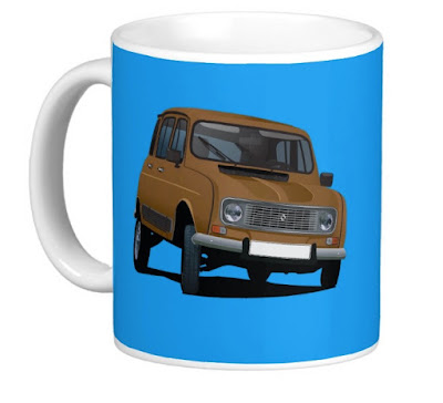 Renault 4 illustration mug