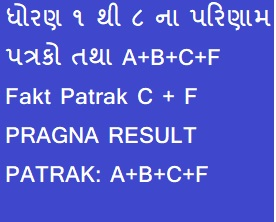 STD. 1 TO 8 PARINAAM PATRAK ANE BIJA PATRAKO PDF