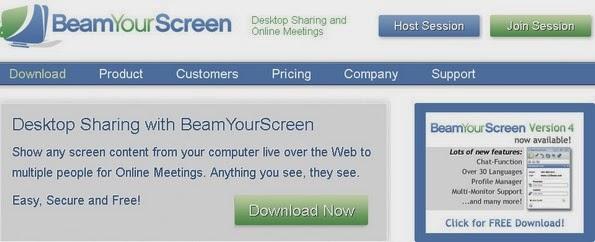 BeamYourScreen desktop sharing tool
