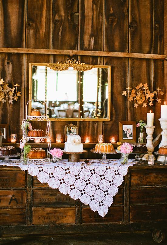 Miss Lovie: Fall Wedding Ideas-Rustic Dessert Table ...