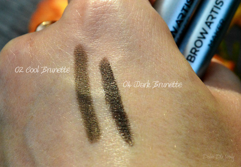 L'oreal Paris Brow Artist Maker Kredki do brwi z pędzlem kabuki 02 Cool Brunette oraz 04 Dark Brunette