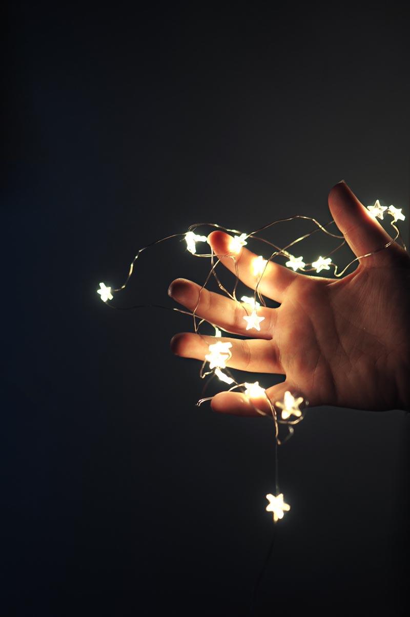 Mikro-LED-Lichterkette mit Sternchen