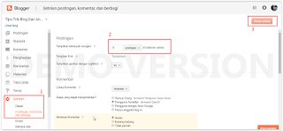 Cara Mengatur Jumlah Postingan DI Halaman Utama Blogger