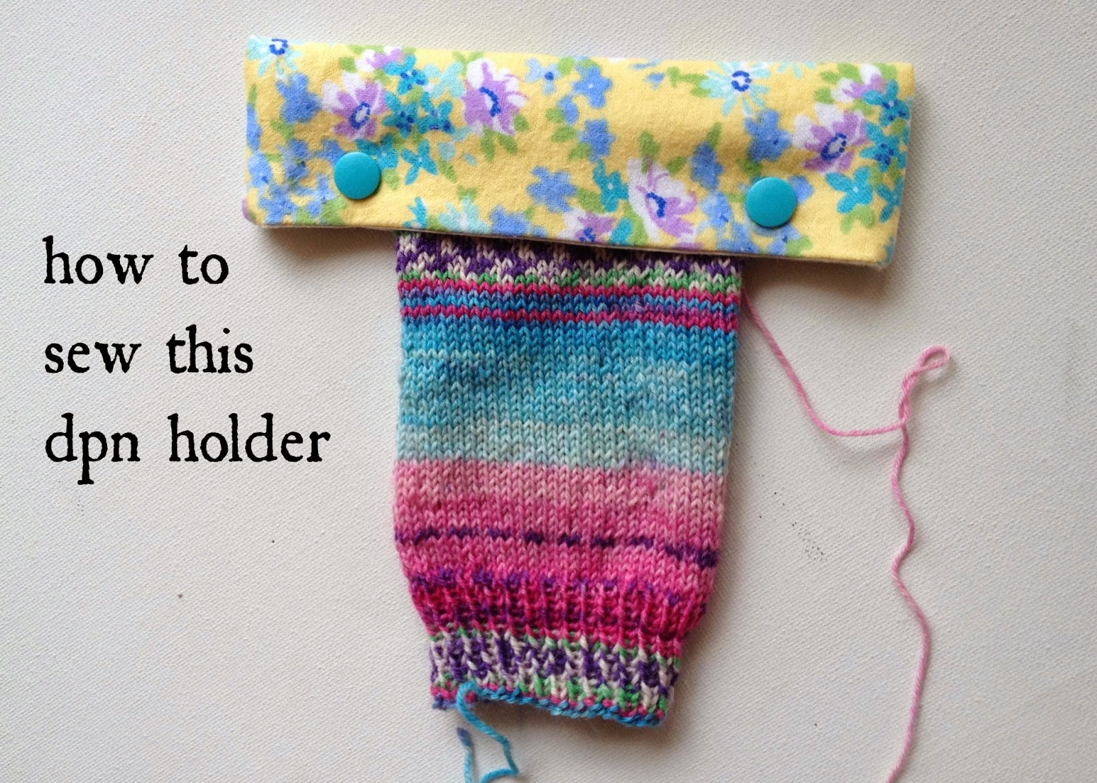 The Nome Knitter: Tutorial: Double-Pointed Needle Keeper
