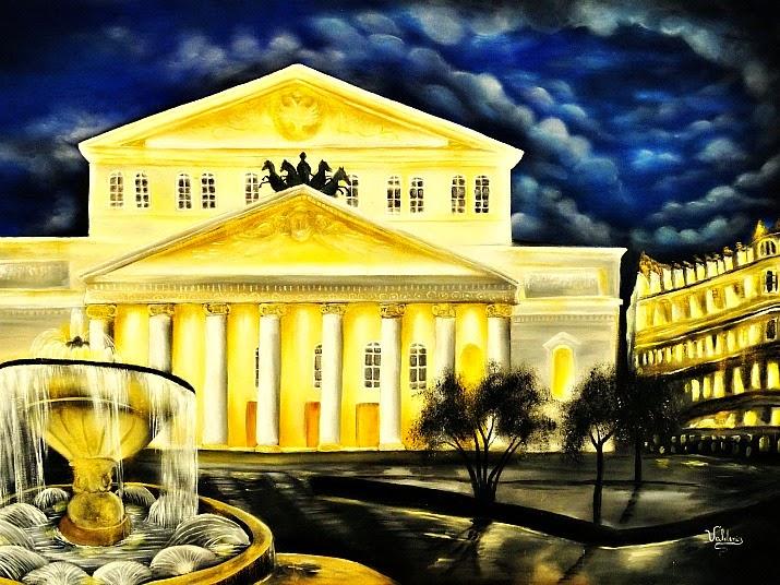 Fachada do Teatro Bolshoi, na Rússia